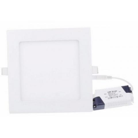 LED panel 12W Neutrálna biela, biely rám