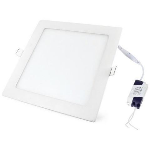 LED panel 225x225x20mm vstavaný - 18W - 230V - 1480lm - teplá biela