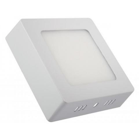 Prisadený LED panel 12W Studená biela, biely rám