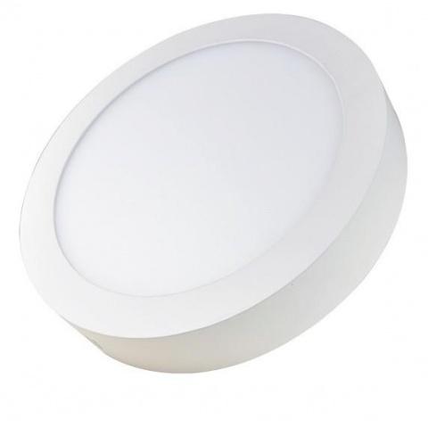 Prisadený LED panel 18W Studená biela, biely rám