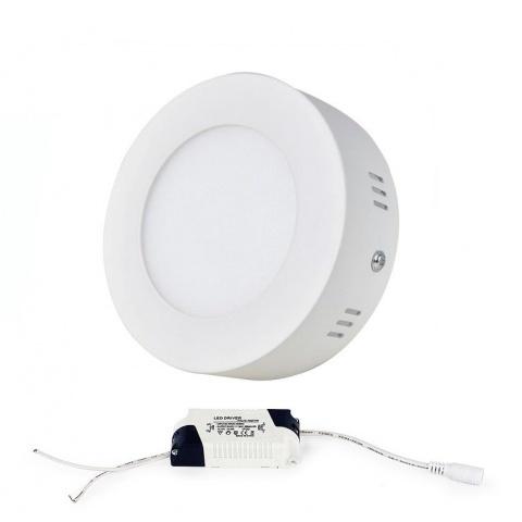 Prisadený LED panel 6W Teplá biela, biely rám