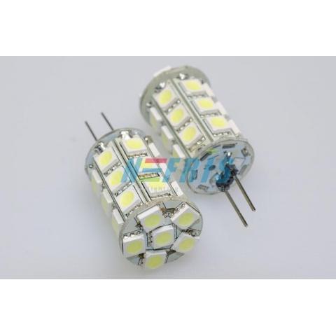 LED žiarovka 27 SMD 5050 5W, studená, G4