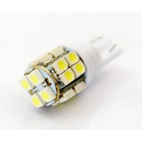 LED auto žiarovka W5W T10 20 SMD1210 studená biela