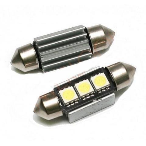 LED auto žiarovka 39mm C5W 3 SMD5050 Canbus Radiator