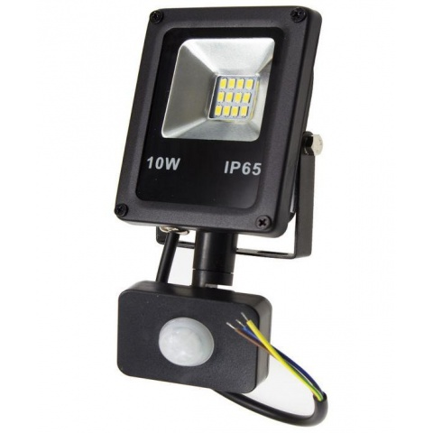 LED reflektor 10W + senzor pohybu, Neutrálna biela
