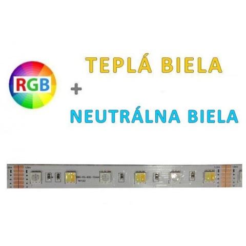 1m LED pás 14.4W/m 60 SMD5050 RGB+WW&NW IP20