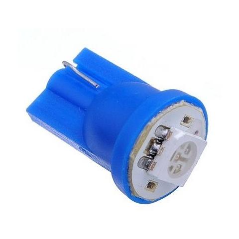 LED auto žiarovka T10 LED 0,5W 12V modrá