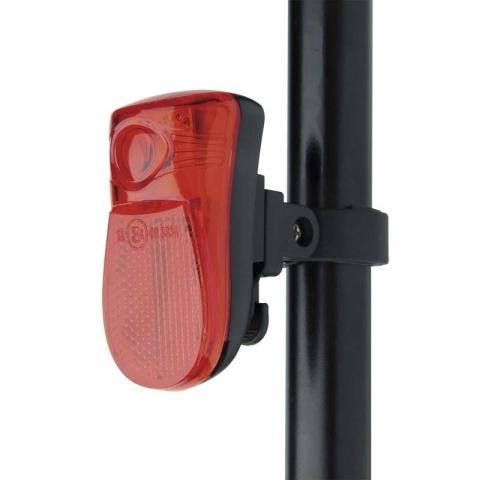 Cyklosvietidlo 1 LED, na 2x AAA, zadné