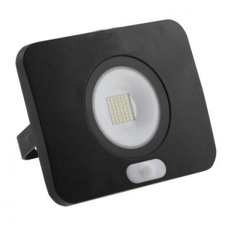 SMD LED reflektor SURFI 50W Teplá biela + senzor pohybu
