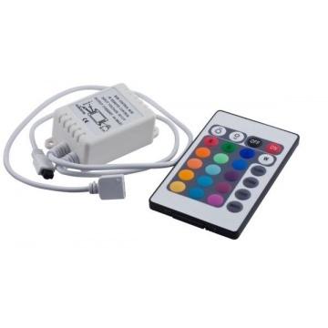 RGB ovládač IR + diaľkové ovládanie 24 tlačidiel 72W