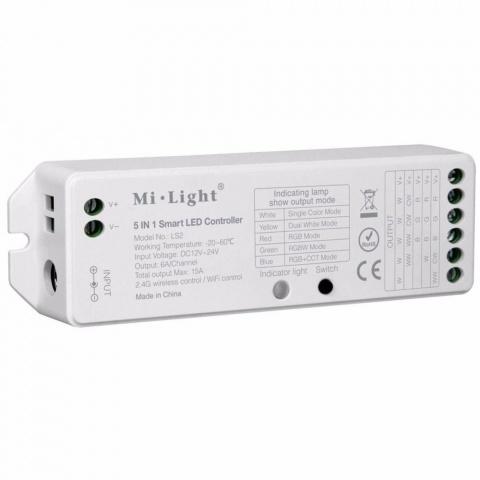Prijímač diaľkového ovládania 5v1 RGB-WW-CW, 8 kanálov