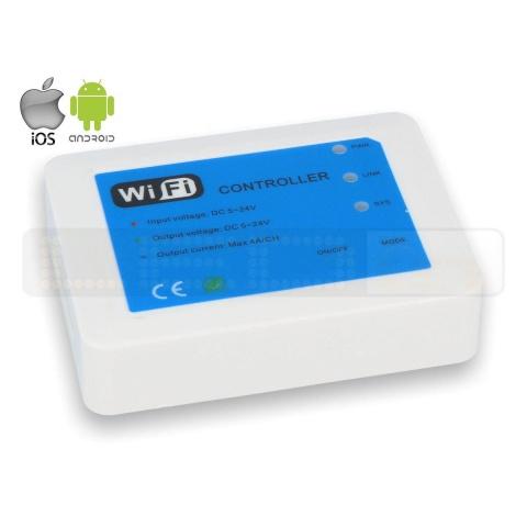 Kontrolér WIFI 5-24V 12A iOS Android 3v1: RGB, MultiWHITE a Stmievanie
