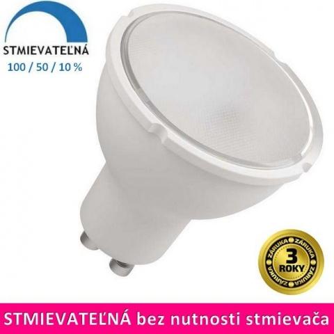 Stmievateľná LED žiarovka 6W Teplá biela SMD2835 GU10