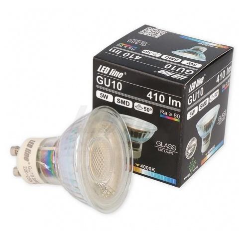 LED žiarovka 5W Teplá biela 50° GU10