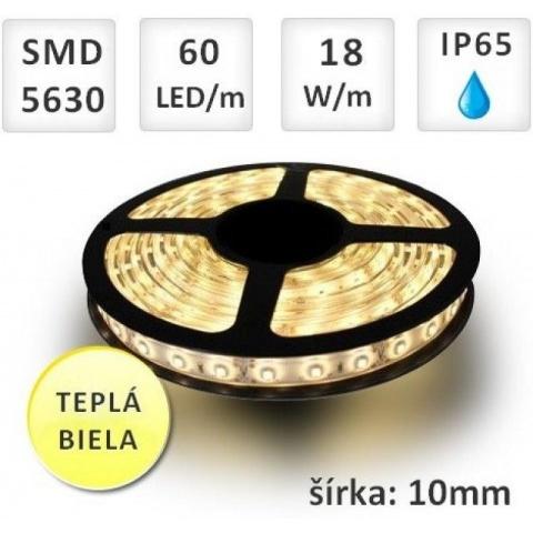 LED pásik 60x SMD 5630 18W/m teplá biela IP65