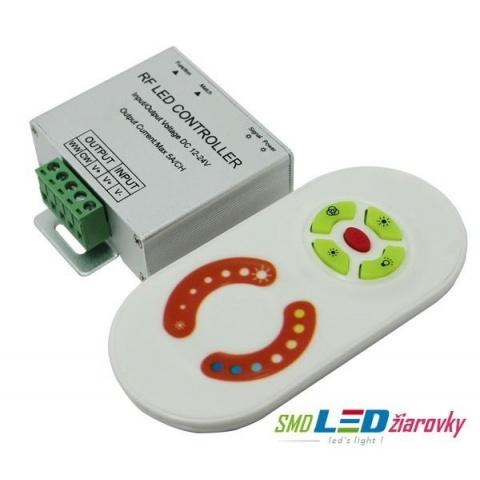 RF dotykové diaľkové ovládanie pre WW/CW LED pásik 120W