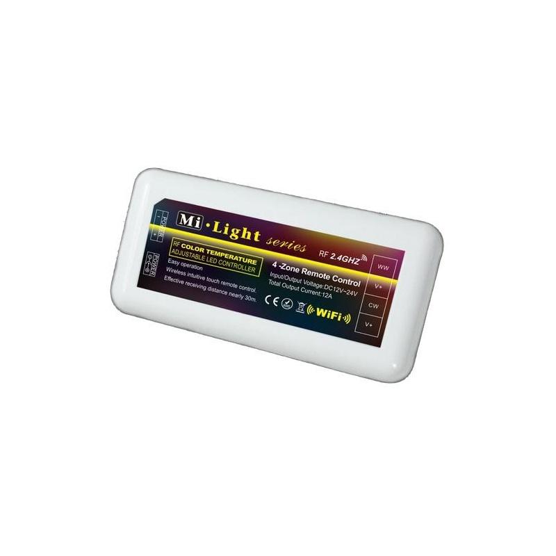 RF kontrolér pre jednofarebné LED pásiky 4-zóny 2df33fd51aa
