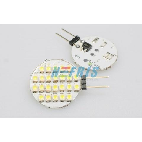 LED žiarovka 2.4W Studená biela 24 LED SMD1210 G4