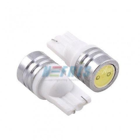 LED auto žiarovka T10 W5W 1W HIGH POWER studená biela