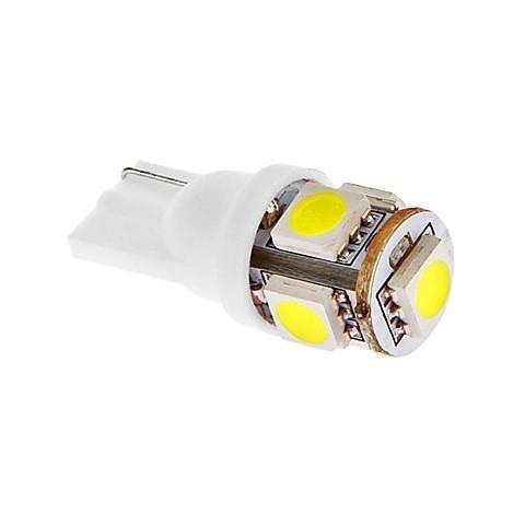 LED auto žiarovka T10 5x LED SMD 5050 12V 1,5W studená biela