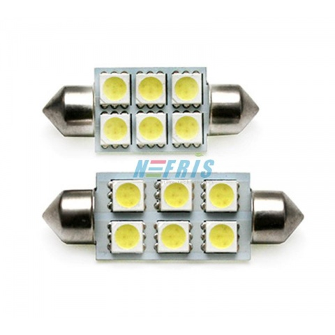 LED auto žiarovka C5W 36mm 6x SMD5050
