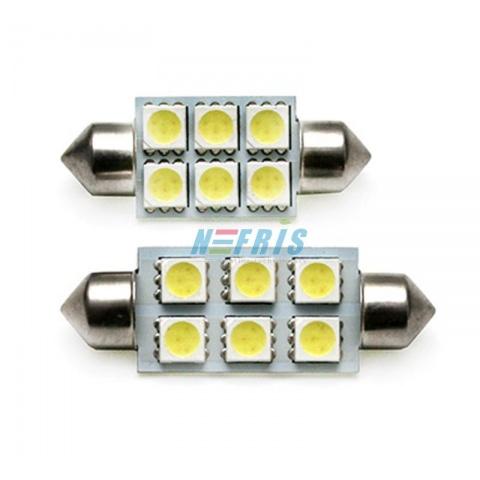 LED auto žiarovka C5W 36mm 6x SMD5050