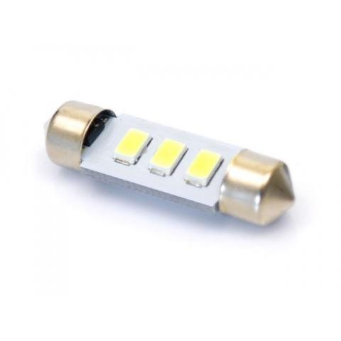 LED auto žiarovka C5W 3 SMD5630 42mm