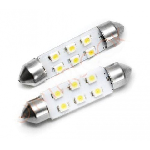 LED auto žiarovka 39mm C5W 6 SMD 1210