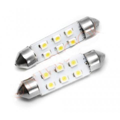 LED auto žiarovka 39mm C5W 6 SMD 1210