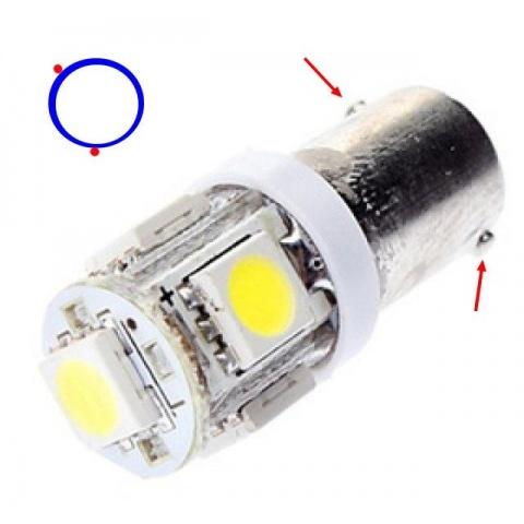 LED auto žiarovka H6W BA9S 5 SMD 5050 1W