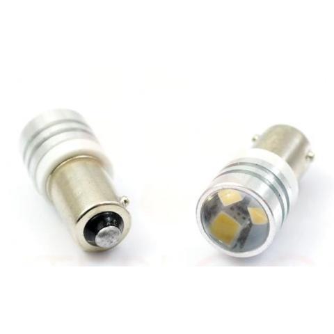 LED auto žiarovka T4W BA9s 3 SMD2323 HIGH POWER šošovka
