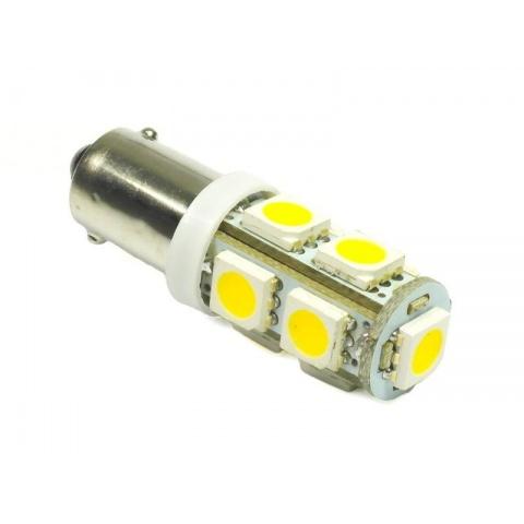 LED auto žiarovka BA9S 9 SMD5050, teplá biela