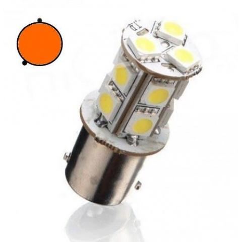 LED auto žiarovka Oranžová BA15S 13 SMD5050 Py21W