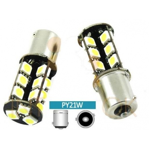 LED auto žiarovka LED BA15S 5W Py21W 50 SMD1206