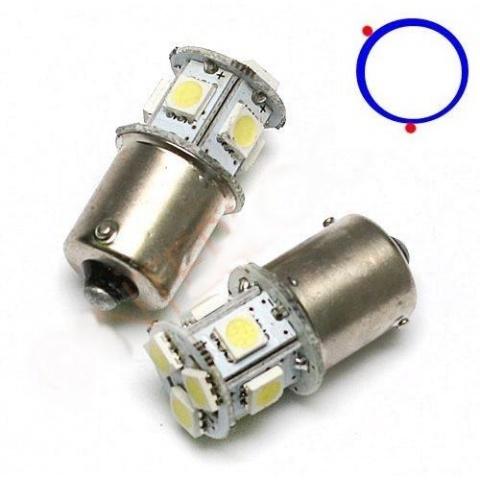 LED auto žiarovka BA15S 8 SMD5050 Py21W