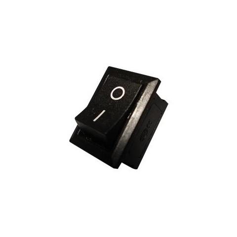 Čierny kolískový prepínač