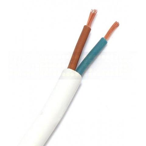 2 žilový prúdový kábel 0,75mm2 biely