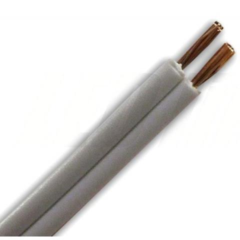 2 žilový kábel 0,5mm2 biely