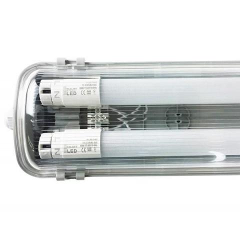 Prachotesné svietidlo 60cm s LED trubicami T8 2x9W studená biela