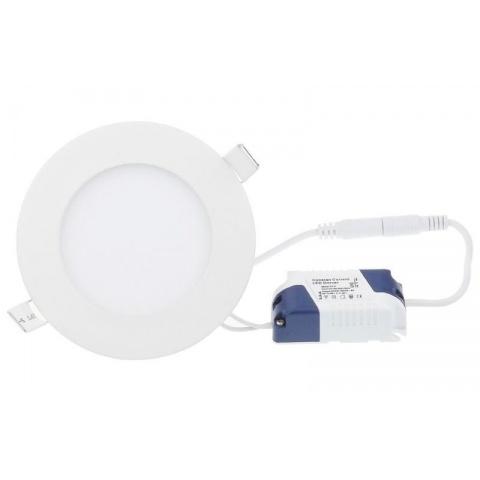 LED panel kruhový 3W Studená biela, biely rám