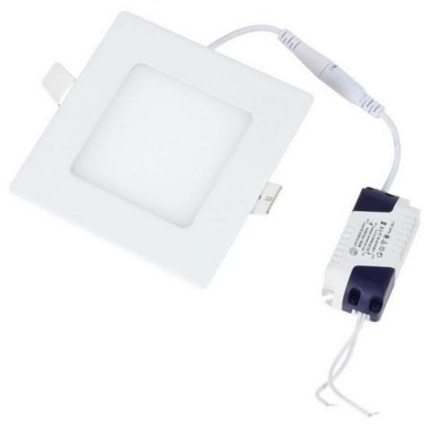 LED panel štvorcový 3W Teplá biela, biely rám