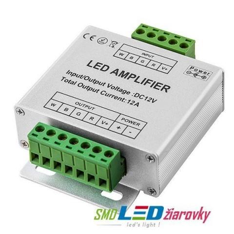 LED zosilňovač/rozbočovač ovládania RGB, 3x4A