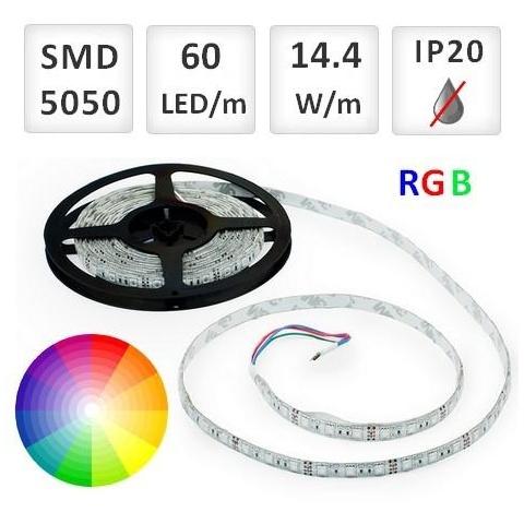 20cm RGB LED pásik 60 SMD5050/m, 14.4W/m, IP20