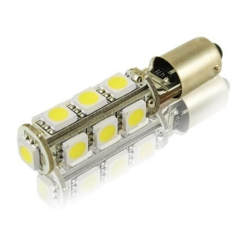 LED auto žiarovka T4W BA9s can bus 13 SMD 5050 Canbus-resistor