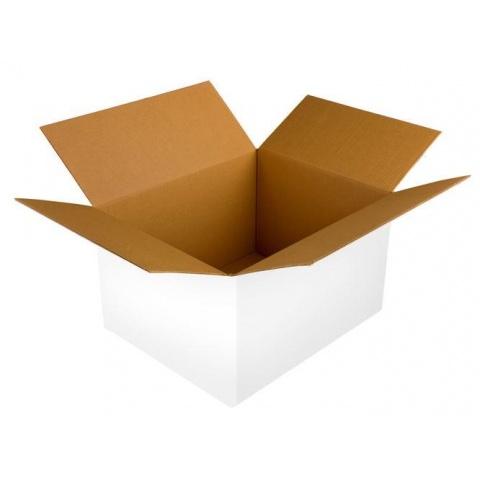 Biela kartónová krabica 3VVL 300x200x100mm B 380g 20ks