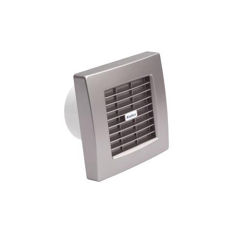 Kanlux TWISTER AOL 100T SF - Strieborný ventilátor štandard s časovačom a autom. žal.