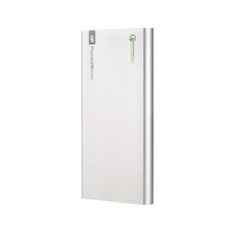 Power bank GP FP10MB 10000 strieborný, QC 2.0