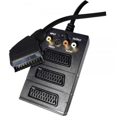 Kábel SCART - 3SCART+3RCA+SVHS 0,5m