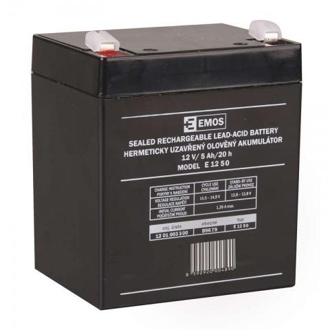 Bezúdržbový olovený akumulátor 12V 5Ah faston 6,3mm,AGM