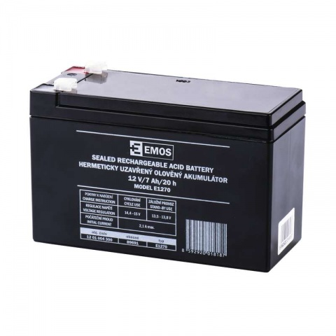 Olovený akumulátor SLA 12V 7 Ah Fa 4,7, AGM
